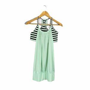 Lululemon • Mint Moment Sea Stripes No Limits Tank